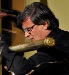 Roberto Fabbriciani and Hyperbass Flute (Photo L. Botteon)